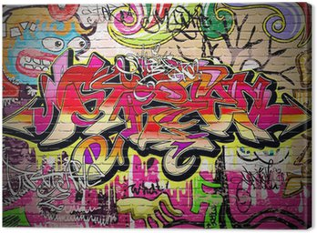 Quadro su Tela Graffiti Art Vector Background