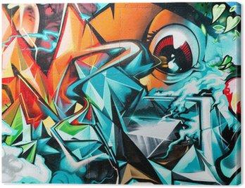 Quadro su Tela Graffiti dettaglio astratto sul muro testurizzati