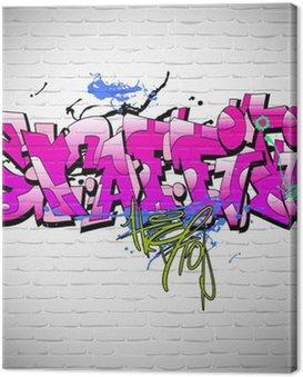 Quadro su Tela Graffiti muro sfondo, arte urbana