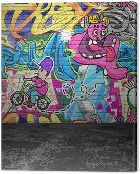 Quadro su Tela Graffiti parete, urbano, strada arte pittura