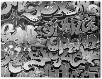 Quadro su Tela Graffiti senza soluzione di continuità. Arte tessuto urbano