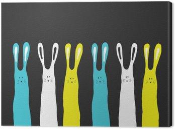 Quadro su Tela Grandi colori di conigli sfondo, illustrazione vettoriale