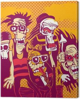 Quadro su Tela Grunge background con halloween persona, per la copertina del CD