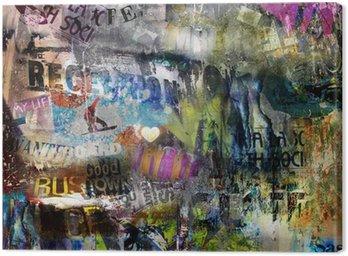 Quadro su Tela Grungy stile strappato sfondo poster