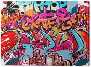 Quadro su Tela Hip hop graffiti arte urbana sfondo
