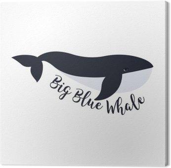 Quadro su Tela Illustrazione vettoriale di balena. simbolo di progettazione