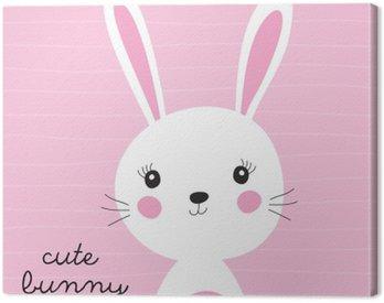 Quadro su Tela Illustrazione vettoriale simpatico coniglietto