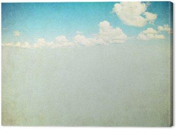 Quadro su Tela Immagine retrò del cielo nuvoloso