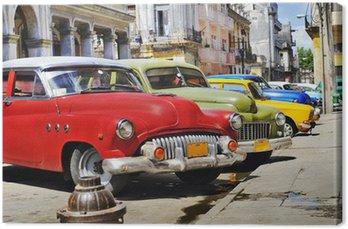Quadro su Tela L'Avana auto Colorful