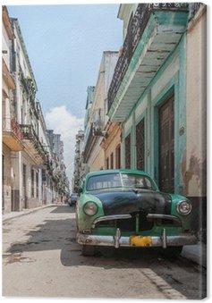 Quadro su Tela L'Avana vecchia auto scuola