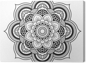 Quadro su Tela Mandala. Ornamento rotondo