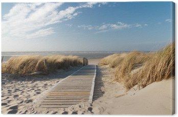 Quadro su Tela Mare del Nord spiaggia di Langeoog
