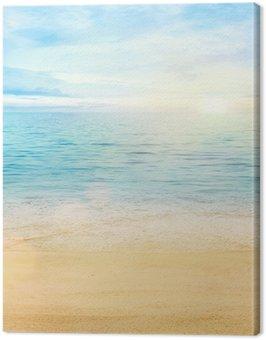Quadro su Tela Mare e sabbia sfondo