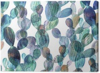 Quadro su Tela Modello Cactus in stile acquerello