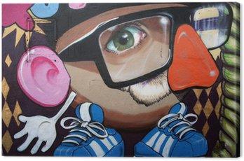 Quadro su Tela Monigote en graffiti