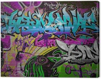 Quadro su Tela Muro di graffiti arte urbana sfondo