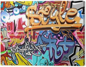 Quadro su Tela Muro di graffiti. Urban art vettore sfondo. Seamless texture