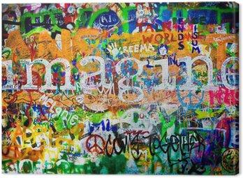 Quadro su Tela Muro di John Lennon (Praga) - Imagine (Toma 1)