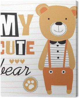 Quadro su Tela My cute illustrazione vettoriale orsacchiotto