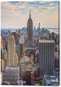 Quadro su Tela New York City al crepuscolo