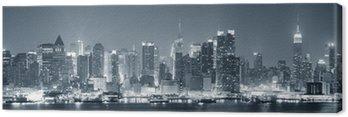 Quadro su Tela New York City Manhattan in bianco e nero