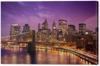 Quadro su Tela New York, Ponte di Manhattan da Brooklyn