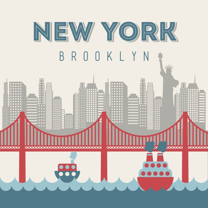 Quadro su Tela Nuovo design York - Città