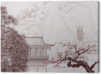 Quadro su Tela Paesaggio cinese