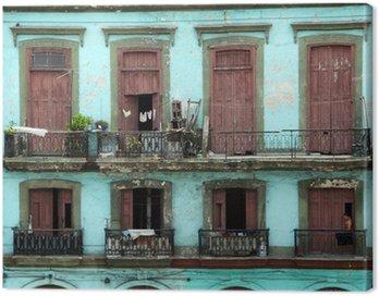 Quadro su Tela Palazzo coloniale - avana
