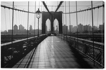 Quadro su Tela Ponte di Brooklyn, Manhattan, New York City, Stati Uniti d'America