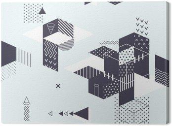 Quadro su Tela Priorità bassa geometrica astratta moderna