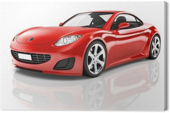 Quadro su Tela Red Car Sport 3D