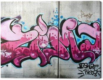 Quadro su Tela Rosa graffiti a Salisburgo, Austria. Urban art o atti di vandalismo.