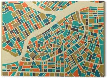 Quadro su Tela San Pietroburgo mappa vettoriale. Colourful Base vintage design per carta di viaggio, la pubblicità, regalo o poster.