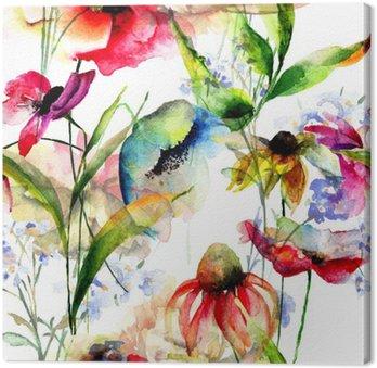 Quadri su tela fiori stilizzati pixers viviamo per il for Quadri fiori stilizzati