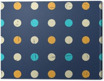 Quadro su Tela Seamless pattern Polka dot