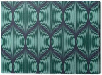 Quadro su Tela Senza soluzione di continuità al neon blu illusione ottica tessuto vettore modello