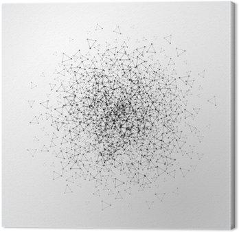 Quadro su Tela Sfondo astratto con griglia punteggiata e le cellule triangolari. illustrazione di vettore