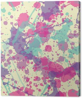 Quadro su Tela Splatter Seamless Pattern