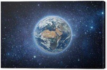 Quadro su Tela Terra e Galaxy. Elementi di questa immagine fornita dalla NASA.