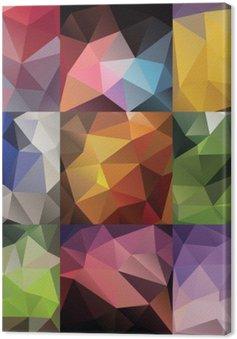 Quadro su Tela Triangolo geometrico grande set