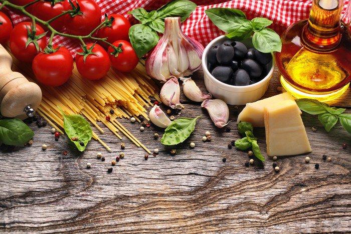 Quadro su Tela Verdure, erbe e spezie per la cucina italiana ...