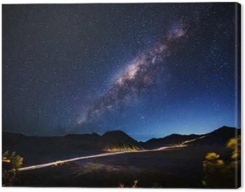 Quadro su Tela Via Lattea attraverso Mt.Bromo, East Java, Indonesia