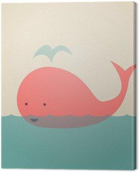Quadro su Tela Whale Carino