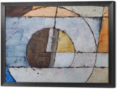 Quadro com Moldura Uma pintura abstrata