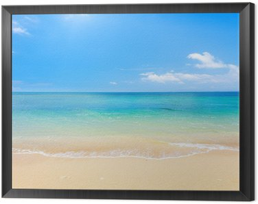 Quadro em Moldura beach and tropical sea