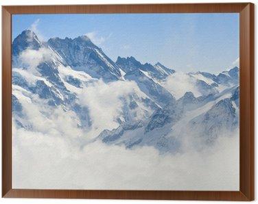 Quadro em Moldura Jungfraujoch Alps mountain landscape