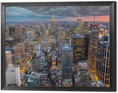 Quadro em Moldura Nova Iorque arquitectura da cidade com arranha-céus
