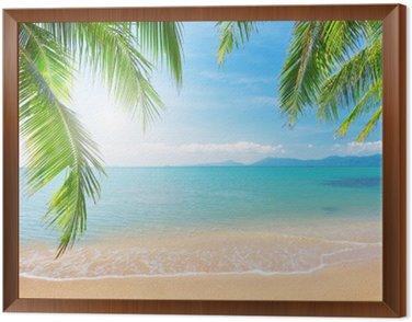 Quadro em Moldura Palm and tropical beach