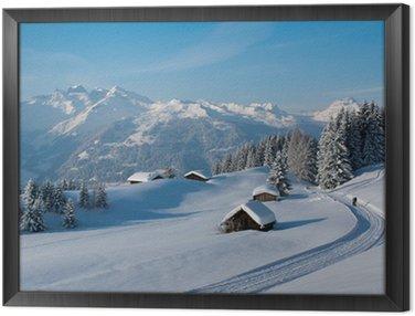 Quadro em Moldura Winterwanderung in den Alpen